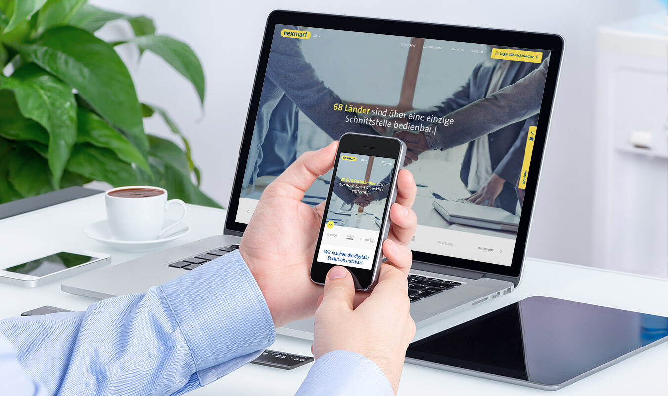 Responsive Design für Desktop, Tablet und Smartphone